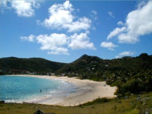 Beach on the windward side of St. Barts