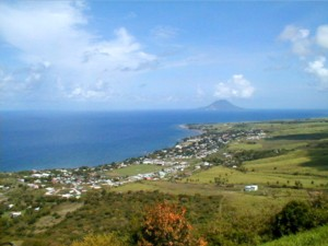 Beautiful view back towards Statia