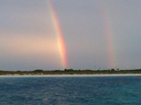 Double rainbow at Soldier Cay