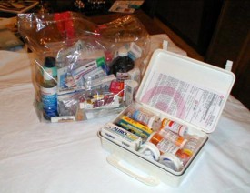 Meds are much handier when stored in a clear bag.